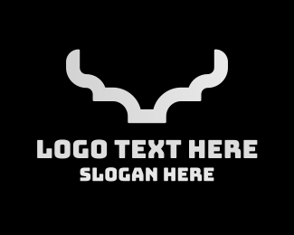 Hunting - Silver Modern Horns logo design