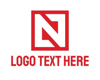 Machinery - Red Box N logo design