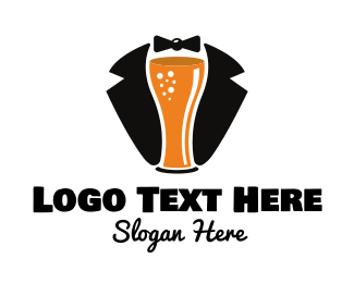 Stag Party - Beer Tuxedo  logo design