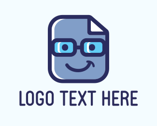 File - Blue Geek Files logo design