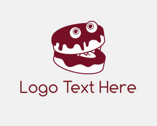 Donut - Cake Monster logo design