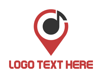 Map - Music Map Finder logo design