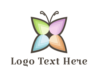 Butterfly - Flower Butterfly logo design