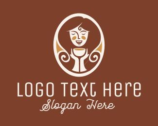 Tea - Caramel Lady logo design