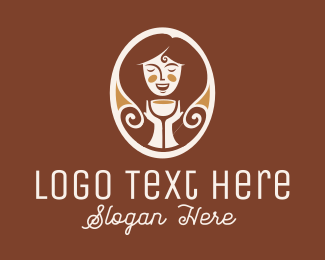 Hairdresser - Caramel Lady logo design