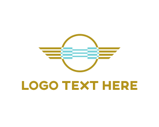 Airline - Aviation Emblem logo design