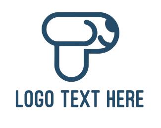Pet Store - Letter P Dog logo design