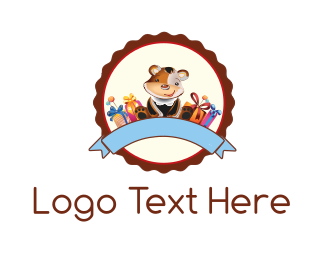 Gift - Teddy Bear  logo design