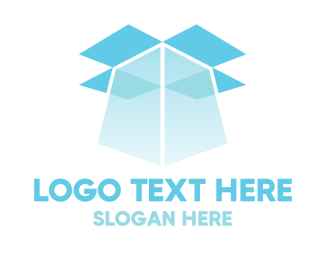 Delivery Service - Blue Box Light logo design