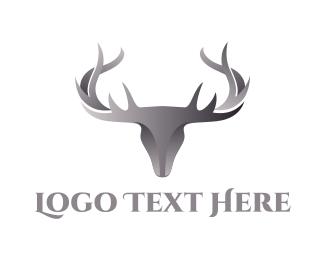 Hunting - Chrome Deer logo design