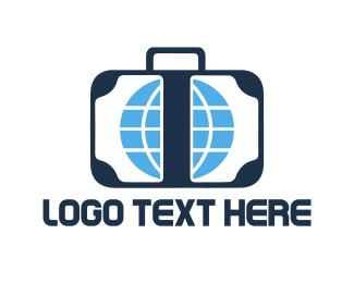 Worldwide - Travel Luggage logo design