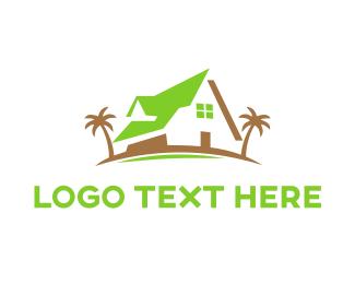 Hotel - Green Beach House logo design