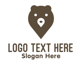 Teddy - Bear Pin logo design