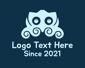 Tentacles - Blue Little Octupus logo design