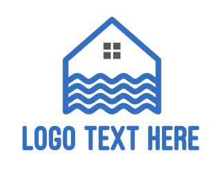 Home - Blue Wave House logo design
