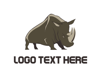Big - Wild Rhino logo design