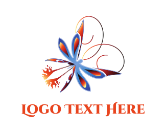 Fireworks - Fire Butterfly logo design