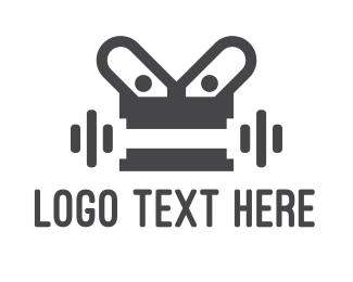 Metallic - Robot Gym logo design