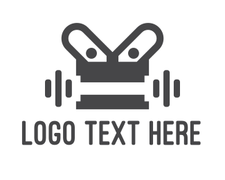 Lift - Robot Gym logo design