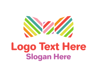 Bow - Rainbow Bow logo design