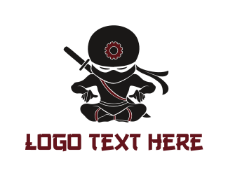 Gang - Ninja Tech logo design