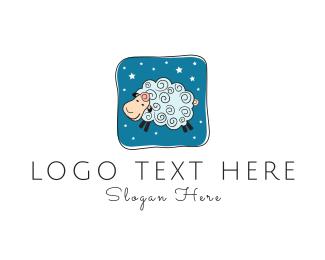 Wool - Blue Sheep logo design