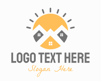 Real Estate - Bright Town logo design