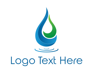 Water - Pond Drop logo design
