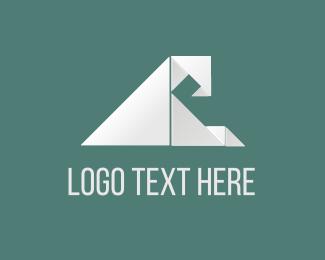 Surf - Origami Wave logo design