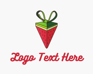 Shape - Watermelon Strawberry Pyramid Gift logo design