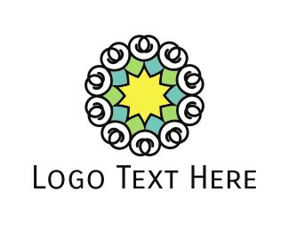 Spa - Star Flower logo design