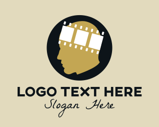 Head - movie head logo design