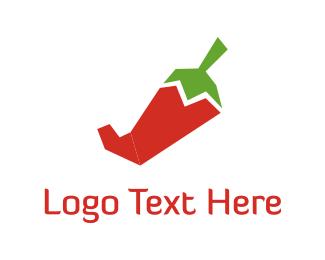 Vegetable - Red Pepper logo design