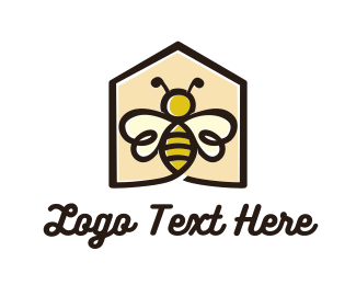 Honey - Bee House  logo design