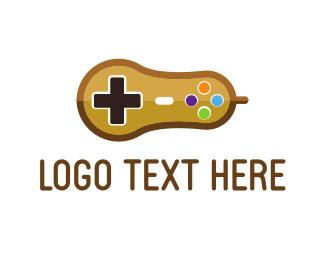 Gamestick - Peanut Controller logo design