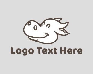 Milk - Happy Cow logo design