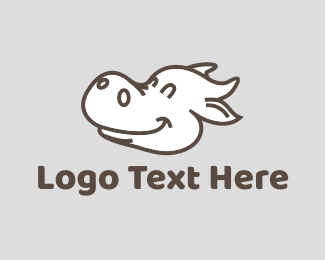 Moo - Happy Cow logo design