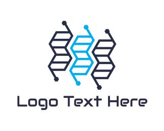 Genes - Genetics Tech logo design