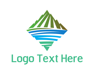 Lake - Green Mountain Lake  logo design