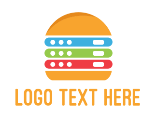 Lunch - Electronic Burger logo design