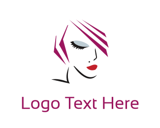Haircut - Woman Face logo design