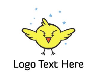 Superhero - Super Little Bird logo design