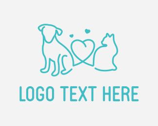 Walk - Pet Love logo design