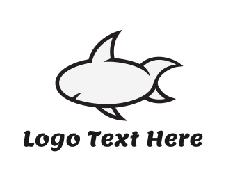 Sharp - Cartoon Shark logo design