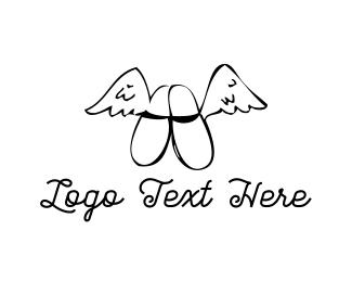 Footwear - Flying Slippers logo design