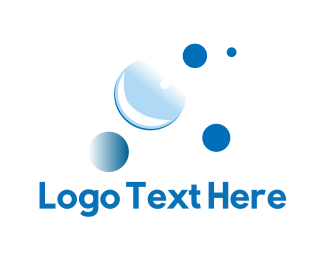 Cleaning Service - Blue Bubbles logo design