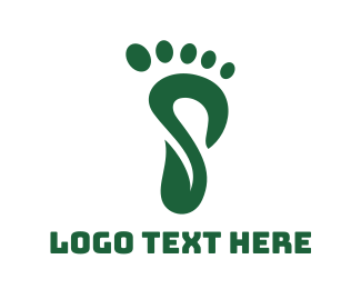 Primitive - Green S Foot Print logo design