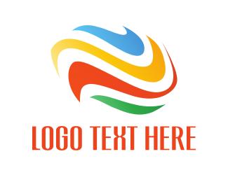 Soccer - Colorful Waves logo design