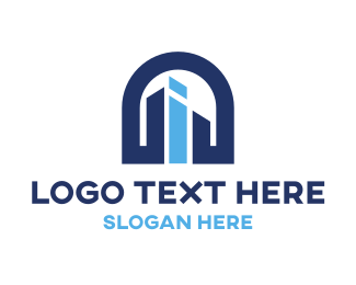 Estate - Letter I Building logo design