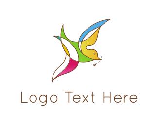 Religion - Colorful Bird logo design
